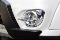 auto head lights mitsubishi - Exterior Accessories Chromium Styling Auto front fog lamp trim head fog light cover for Mitsubishi Pajero sport