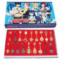 Wholesale Fairy Tail set Keychain Lucy Key chain Scale Free Pink Tattoo Heartfilia sign of the zodiac gold Key