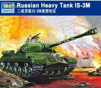 Wholesale TRUMPETER plastic scale model RUSSIAN HEAVY TANK IS M Assembly plastic Model kits Modle building
