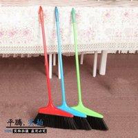 Wholesale SB manufacturers of household plastic broom broom broom sweeping home plastic belt wool single broom