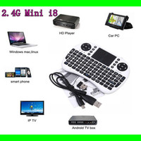 mini pc keyboard - Portable mini keyboard Rii Mini i8 air mouse Wireless Keyboard with Touchpad for PC Pad Google Andriod TV Box