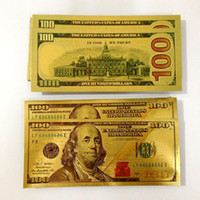 Wholesale Hot Sales New Coloured Gold Foil Dollar Banknotes Commemorative banknotes Paper Money for Christmas Gifts Collections Art