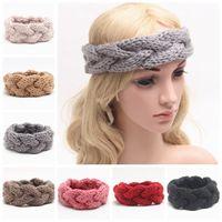 Cheap knitted headband for women ladies winter headbands girls crochet hair accessories wool boutique braided hair bands woven headband wholesale