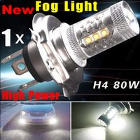 Wholesale 1X Super White CREE high power Lights LED Headlamp H4 HB2 CREE W LED Projector Hi Lo Beam Headlamp Conversion