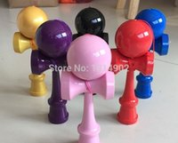 Wholesale Hot sell all PU paint Kendama ball traditional size cm Japanes Skills ball toy