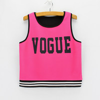 Wholesale Fluorescence red VOGUE lady cropped tank fashion summer dresses women novelty design crop top mixed order clothes free ship