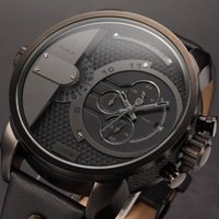 shark - Shark Luxury Leather Box Big Dial Auto Date Stop Watch Chronograph Hands Display Leather Band Military Men Sports Watch SH157 ZC156
