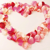 wedding rose petals cheap - Romantic Artificial Silk Rose Petals Wedding Flowers Home Decorations Party Garlands Accessories Cheap Mixed Multi Colors Accepted