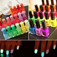 neon paint - Profession BK Nail polish glow in the dark nail polish and paint Neon Fluorescent Luminous oil matte nail polish cheap nail polish