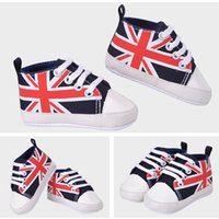 baby mum - New Cute Union Jack Mum And Dad Lovely Baby Shoes Girl Soft Bottom Footwear Newborn Baby Shoes