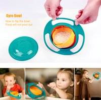 Wholesale Children Baby Eating Dishes Universal Rotate Spill Proof Bowl Dishes Baby Feeding Bowls S30151