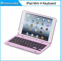 aluminum ipad mini case - Waterproof Dustproof in1 Bluetooth Wireless Keyboard Foldable Case Stand Cover Holder for iPad Mini high quality