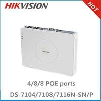 4,RJ45 10M/100M adaptive Ethernet port dvr - Hikvision Poe cctv NVR Hikvision DS N SN P with Ethernet ports surveillance recorder NVR support POE ONVIF NVR recorder