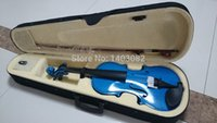 Wholesale Student Acoustic Violin Maple Spruce with Case Bow Rosin Blue Color