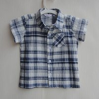 Cheap New Shirts for Baby Boys Cool Shirt Printed Shirts Stitching Colors Lapel Short Sleeves Boy Girl Clothes ages 18M 24M children clothing