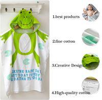 korean style blankets - 2015 New Arrival Kids Korean Style Animal Design Cloak Bathrobe Baby Cartoon Designer Hoodies Bath Towel Baby Blanket
