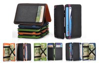 magic cards - Mens MAGIC MONEY CLIP Leather Wallet Slim Money Clip Slim Wallet hot clip Card Holders