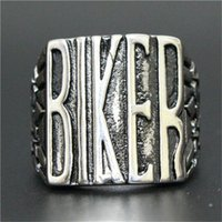 asian motorcycles - 1pc New Motorcycles BIKER Ring L Stainless Steel Man Boy Fashion Personal Design biker Ring