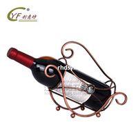 bar ideas - 2pcs Creative home bar wine bottle holder home decor CYF new patented ideas beads Continental Iron wine rack wine rack supply hous