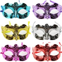 Wholesale Sexy Mask For Carnival - On Sale Party masks Venetian masquerade Mask Halloween Mask Sexy Carnival Dance Mask cosplay fancy wedding gift mix color free shipping