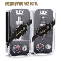 Replaceable 6ml Stainless steel Metal Zephyrus V2 Tank 6ml sub ohm tank top filling UD Youde RTA OCC Dual RBA Full SS Ceramic Coil Vapor Mods ecigarettes RDA