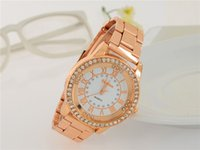 rose gold - Selling Europe and the United States of Rome grain Vintage boutique fashion product Damen strip rose gold female watches