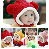 christmas gifts - Christmas Gift Lovely Newborn Infant Baby Knit Crochet Hat Autumn Winter Warm Costume Caps DH04