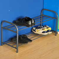 shoe cabinet - 2 Tier Rolling Shoe Rack Sturdy Metal Shoes Racks with Non Slip Bars shoe cabinet white stock in UK