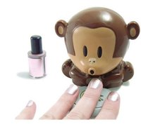Wholesale Cartoon Style Monkey Hand Nail Art Tips quick blow Polish Dryer Blower Manicure Care Free Shiipping