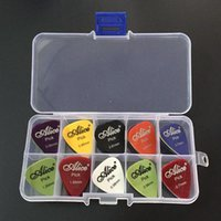 Wholesale guitar picks box case Alice acoustic electric bass pic plectrum mediator guitarra musical instrument thickness mix