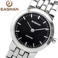 Cheap EASman Watch Women Lady Swit Movement Sapphire Glass Watch Water Resistant Analog Wristwatches Silver Black Clock Hours Quartz Watches