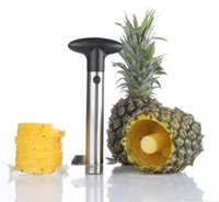 pineapple peeler - Stainless Steel Fruit Pineapple Corer Slicers Peeler Parer Cutter Kitchen Easy Tool Pineapple Corer