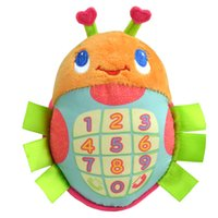 Wholesale new Musical digital toys phone for infant baby plush toys songs early learning