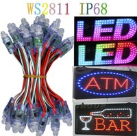 Wholesale AAA mm WS2811 led pixel module IP68 waterproof DC5V full color RGB a string christmas LED light Addressable new ws2801