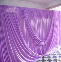 Wholesale Romantic Purple ft ft wedding stage decoration Wedding Backdrop with Beatiful Swag Wedding drape and curtain