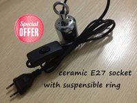Wholesale High quality E27 Pendant ceramic lampholder For W W Incandescent Vintage light socket bulb accessory