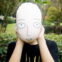 bald free - 20pcs Anime One Punch Man Saitama Mini Cushion Plush Pillow Foam Toys The Bald Cloak Small Embrace Doll Home Decor Xmas Gift