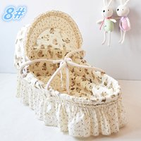bassinets and cradles - Hot Soft and Comfortable Baby Basket Colors Corn Husk Straw Braid Baby Bassinets Portable Baby Crib Cradles Retail