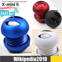 Wholesale Gift Big Capsule Hamburger X MIN XMI X MINI XMINI Portable Speaker Cylinder Sound Box for Tablet MP3 PC DHL Free