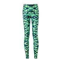 Wholesale Women Funny Green flora Galaxy Printing Leggings Pants Elasticity Space Tie Dye Milk Silk tight women leggings