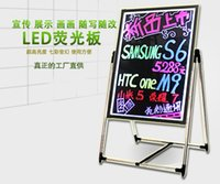 Wholesale Fluorescent Toughened glass led advertising board blackboard message board promotional display fluorescence plate fluorescence