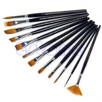 Wholesale Good Use Type Brown Tip Nylon Paint Brushes For Art Artist Supplies Hot Sale
