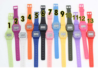 g-shocks watches - Men women F W watches f91 fashion Ultra thin LED watches alarm clocks color