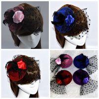 ladies dress hats - Ladies Royal hats Fascinator hair clip flower Bridal feather lady dress hair accessory