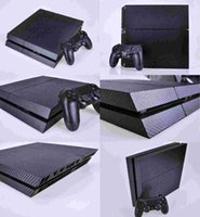 Wholesale New Cool Carbon Fiber Sticker For PS4 Console Controller Skin Decal Black