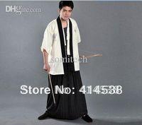 Vente en gros-japonais traditionnels Kimono Samurai Un ninja Gongfu costumes cosplay costume masculin