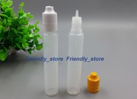 Wholesale 2016 Made in China E Cig Plastic Dropper Bottle With Childproof Tamper Cap And Long Thin Tip electronic cigarette oil bottles ml