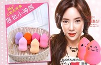 Wholesale Face Bottle Gourd Sponge Flawless Smooth Pro Beauty Makeup Powder Puff Mix Colour Women Gift Free EMS