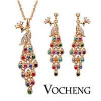 asian oriental - Colorful Peacocks Jewelry Sets Oriental Element k God Plated Vs Vocheng Jewelry