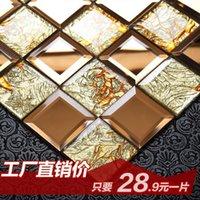 bars crystal mosaic - Jasmine crystal glass mosaic mirror puzzles bar entrance backdrop of European self adhesive tiles